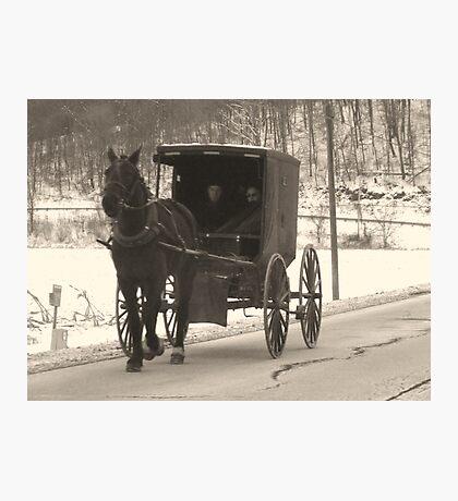 Amish near Breman Ohio in Fairfield County Photographic Print