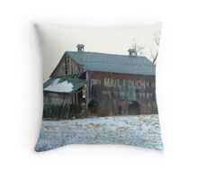 Mail Pouch Barn In Madison Township Ohio Throw Pillow