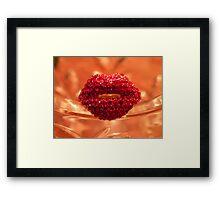 Hot Lips! Framed Print