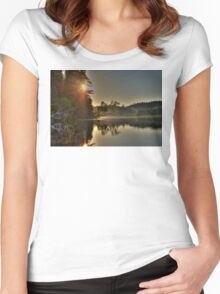A Cariboo Lake Women's Fitted Scoop T-Shirt