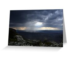 Storm over Megalong... Greeting Card
