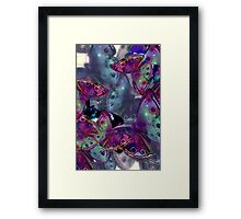 Abstracted Butterflies in Fauvist Colors #11 Framed Print
