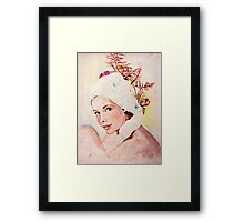 a pretty face Framed Print