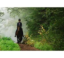 Riding in a world of green Photographic Print