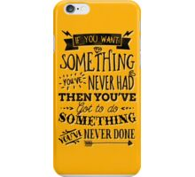 Motivational Quote Typography Vintage Dusty Ink Print iPhone Case/Skin