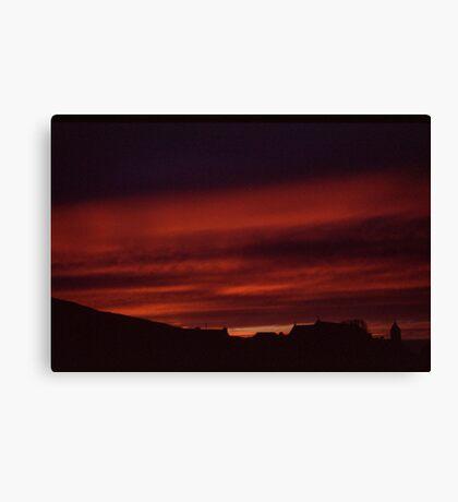 Glencolmcille sunset Canvas Print