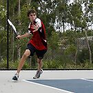 David Playing Tennis #2 by S S