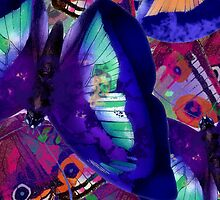 Abstracted Butterflies in Fauvist Colors #12 by Ivana Redwine