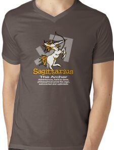 Sagittarius The Archer Mens V-Neck T-Shirt