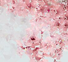 Meshed Up Japanese Sakura Blossoms by MCSWU