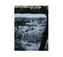 Patient Nature (discarded shopping trolleys among snow) Art Print