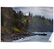 Norfolk Island coastline 2 Poster