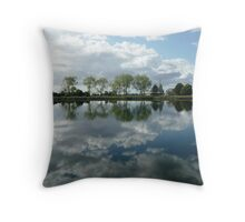 Reflections in the Macleay River, Kempsey, N.S.W. Throw Pillow