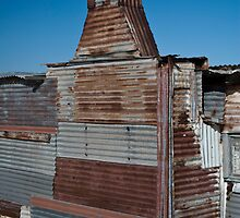 Tin City, Stockton Sands, NSW by Calelli