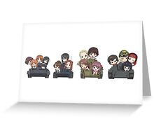 Girls und Panzer - Oarai Girls Greeting Card