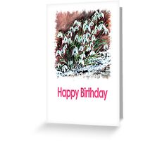 Snow Drops/ Happy Birthday Greeting Card