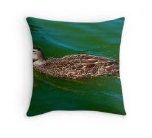 Wading Duck  Throw Pillow