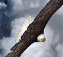 Eagle on the Turn (with Clouds) Sticker