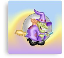 Happy Witch Canvas Print