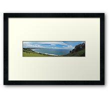 Lennox Head Panorama Framed Print
