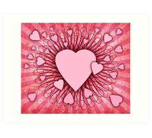 Abstract Digital Heart Art Print