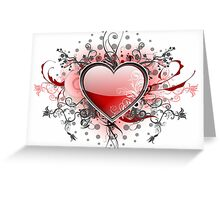 Abstract Digital Heart Greeting Card