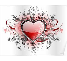 Abstract Digital Heart Poster