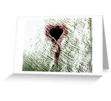 Abstract Digital Grunge Heart Greeting Card