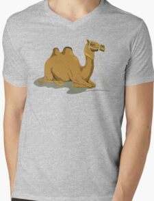 Camel Illustration Mens V-Neck T-Shirt