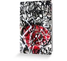 Abstract Digital Grafitti Heart Greeting Card