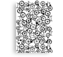 Pile of Black Bicycles Canvas Print