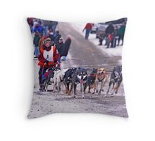 109 mile challenge..........happy feet! Throw Pillow