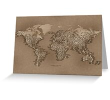 The World Map of Small Towns Greeting Card