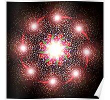 Abstract Digital Star Poster