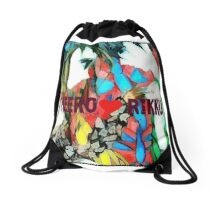 gundam wing heero and rikku strange love Drawstring Bag