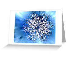 Abstract Digital Star Greeting Card