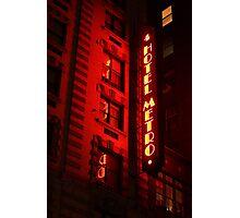 Red Metro Photographic Print