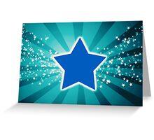 Abstract Digital Stars Greeting Card