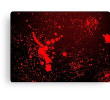 Grunge Bloody Red Texture Background Canvas Print