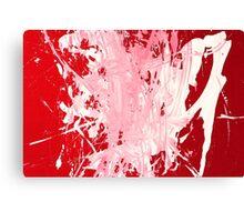 Red Smudges Grunge Texture Background Canvas Print