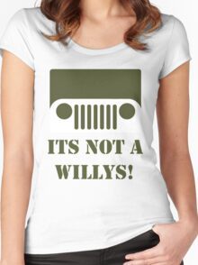 WW2 Ford GPW Jeep  Women's Fitted Scoop T-Shirt