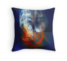 a study in just being..... abstract portraits Throw Pillow