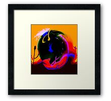 ringo on the beach for the day.... Framed Print