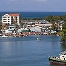 Colorful Harbor of St. Kitts by Memaa