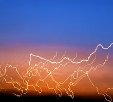 Driving by an electric sky by Lisa Bianchi