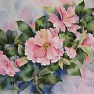 Pink Camellias by artbyrachel