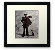 His name is Sooty Framed Print