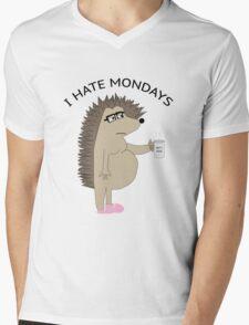 I Hate Mondays Hog Mens V-Neck T-Shirt