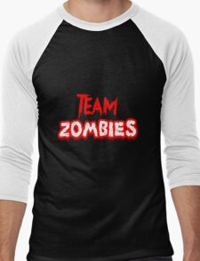 Team Zombies Scary Men's Baseball ¾ T-Shirt