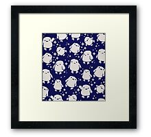 Doctor Who Adipose Cute Pattern Framed Print